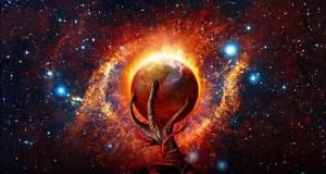 Alien hand - planet - creator - destroyer